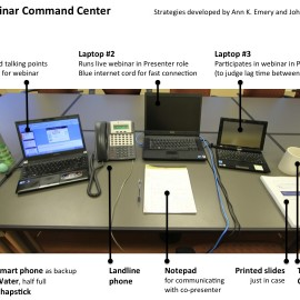 The Webinar Command Center: Give Better Webinars by Organizing Your Physical Space