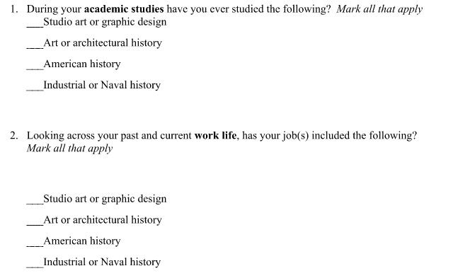 Here are the check-all-that-apply survey questions that I wanted to graph.