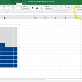 How to Make a Waffle Chart in Excel
