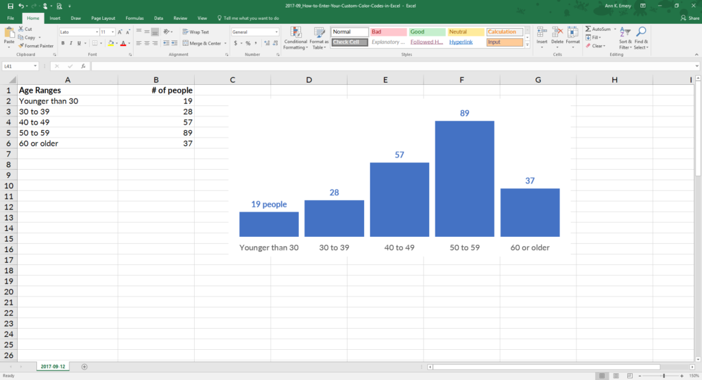how to enter your custom color codes in excel depict data studio