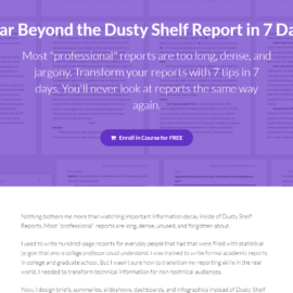 Soar Beyond the Dusty Shelf Report: New Online Course